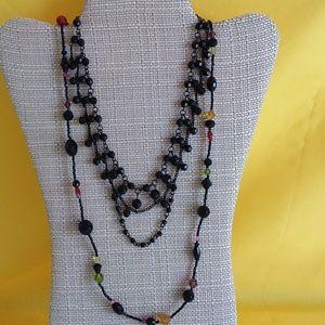 Lia Sophia Glass Bead Necklace + Extra